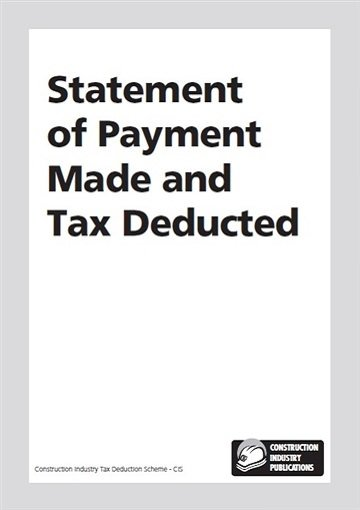CIS statement of payment made and tax deducted