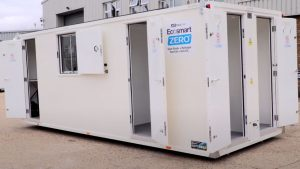 First solar and hydrogen powered site cabins