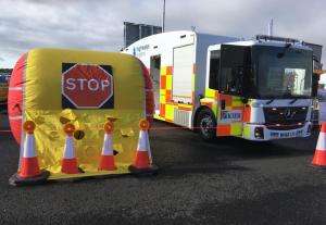 lane closure airbags