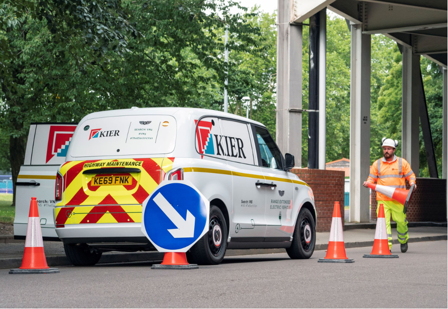 electric vans on trial with Kier Group